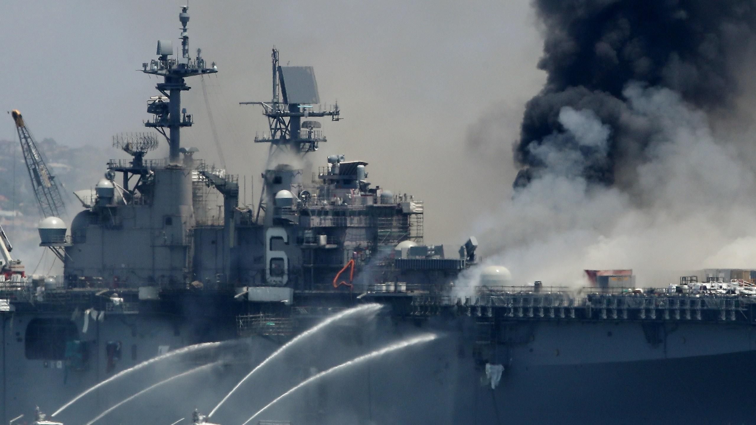 17 sailors, 4 civilians injured as crews battle fire at ...