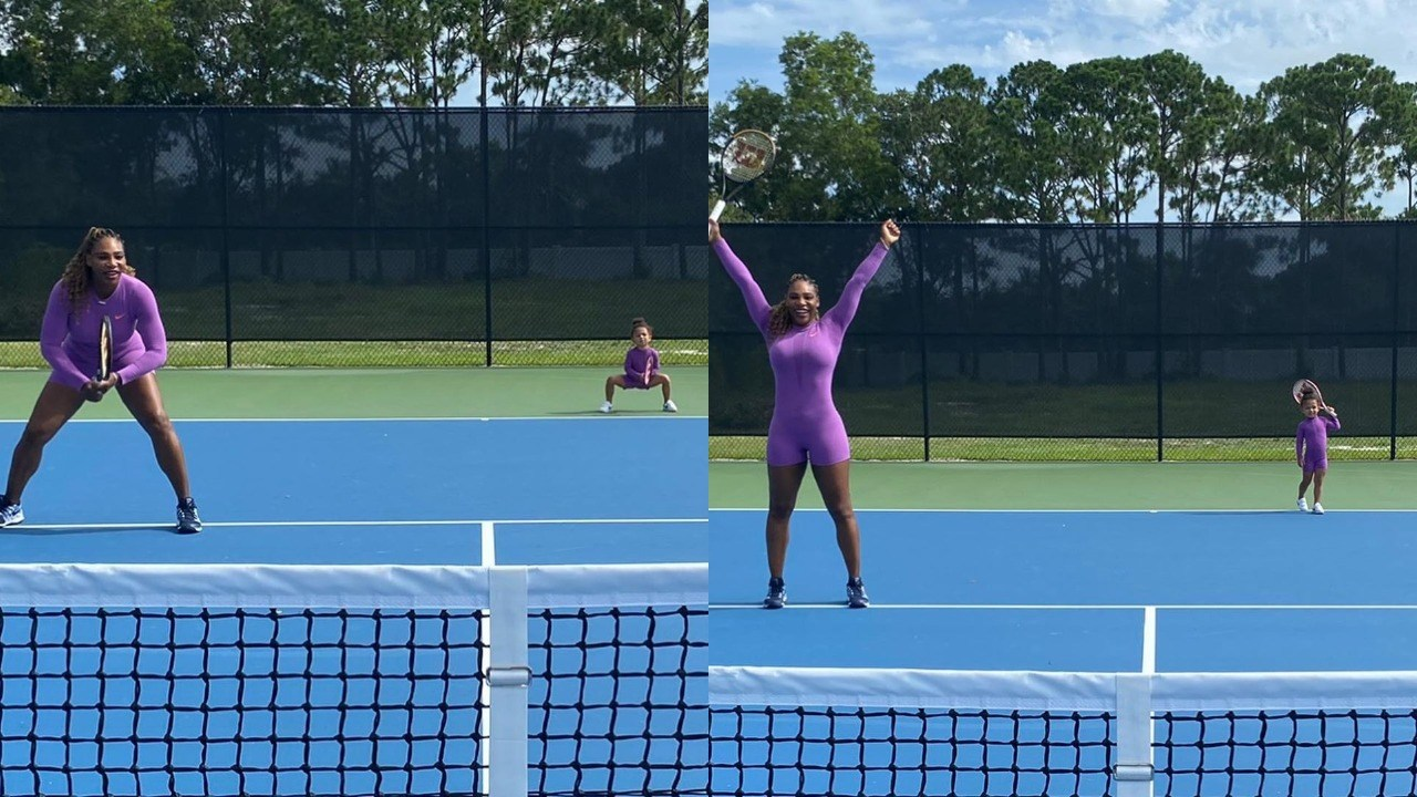 Serena Williams Reveals Photos Of Her Daughter Olympia Looking Like A Tennis Pro At Age 2 Wlns 6 News