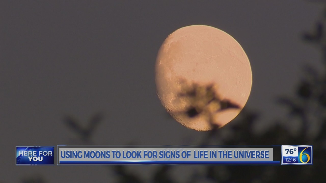 Using moons to look for signs of life in the universe